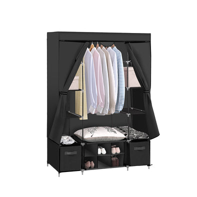 Portable Wardrobe with Shoe Storage Black