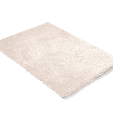 Ultra Soft Anti Slip Rectangle Shape Plush Shaggy Floor Rug in Beige Colour 200x140 cm