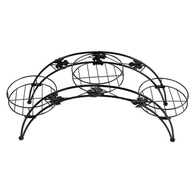Levede Plant Stand Garden Decor Flower Pot Rack Wrought Iron Arch Shelf Black