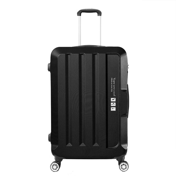 "28"" Check In Luggage Hard side Lightweight Travel Cabin Suitcase TSA Lock Black"