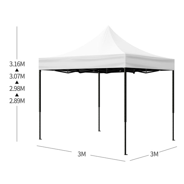 Mountview 3x3M Gazebo Outdoor Pop Up Tent Folding Marquee Camping Canopy White
