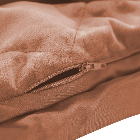 DreamZ Anti-Anxiety Weighted Blanket 5 KG in Dusty Pink Colour