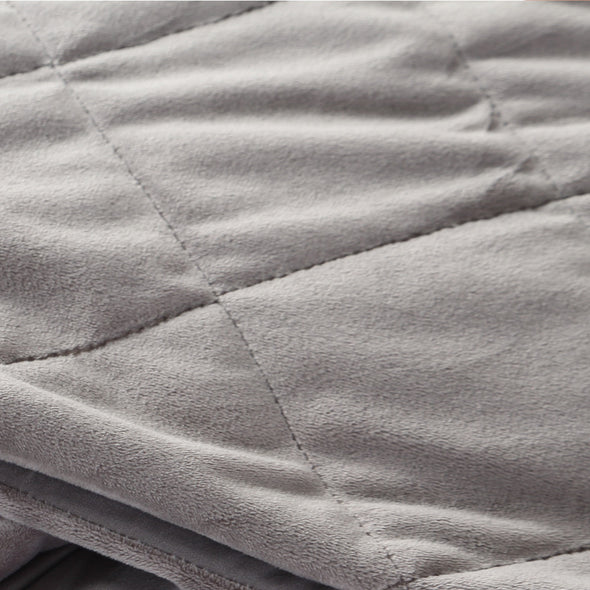 DreamZ 9KG Anti Anxiety Weighted Blanket Gravity Blankets Grey Colour
