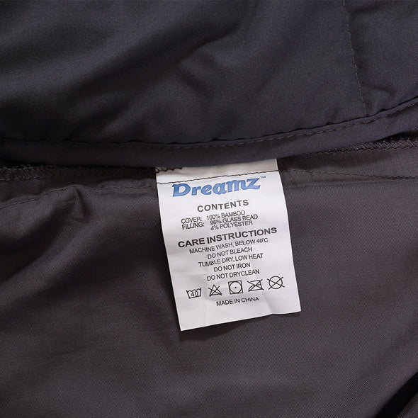 DreamZ Single Dark Grey 9kgs Polyester Weighted Blanket