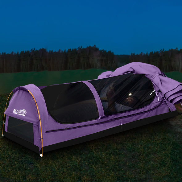 Purple Double Swag Tent