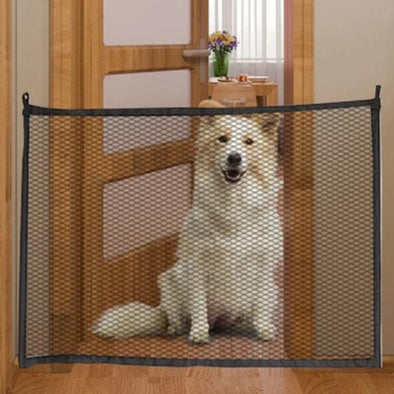 Door Mesh Gate for Dogs 110 x 72 cm