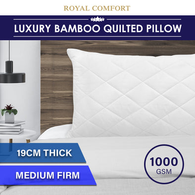 Luxury - Bamboo Quilted Pillow - Single Pack