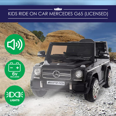 Kids Ride-On Car Mercedes-Benz AMG G65 Jeep Licenced Model - Black