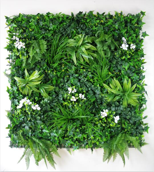 Snowy White Vertical Garden / Green Wall UV Resistant 100cm x 100cm