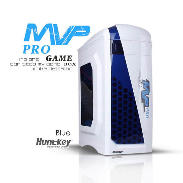 Huntkey MVP Pro  Gaming computer chassis - Blue (No PSU Included)