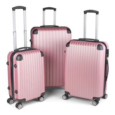Milano Premium Luggage - Rose Gold 3Pcs Set