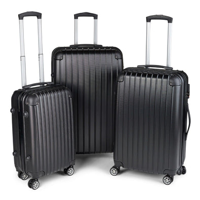 Milano Premium Luggage - Black 3Pcs Set