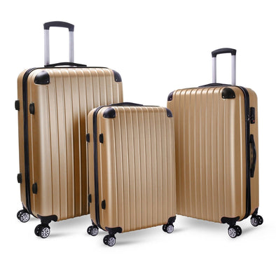 Milano Premium Luggage - Gold 3Pcs Set