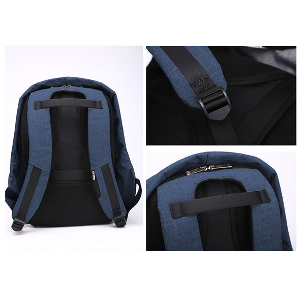 Milano Anti Theft Backpack  - Blue