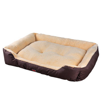 Pawz Pet Bed Mattress Dog Cat Pad Mat Cushion Soft Winter Warm Large Brown