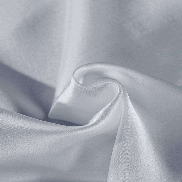 SILK PILLOW CASE TWIN PACK - SIZE: 51X76CM - SILVER