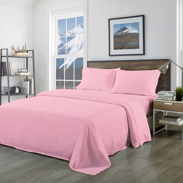 Royal Comfort Bamboo Blended Sheet Set Blush - Queen