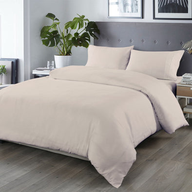 Royal Comfort Blended Bamboo Quilt Cover Sets -Warm Grey-Queen