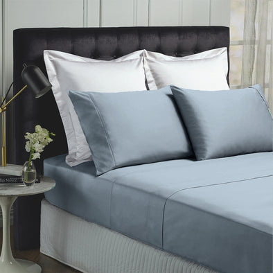 Royal Comfort Balmain 1000TC Bamboo Cotton Sheet Set - Queen - Blue Fog