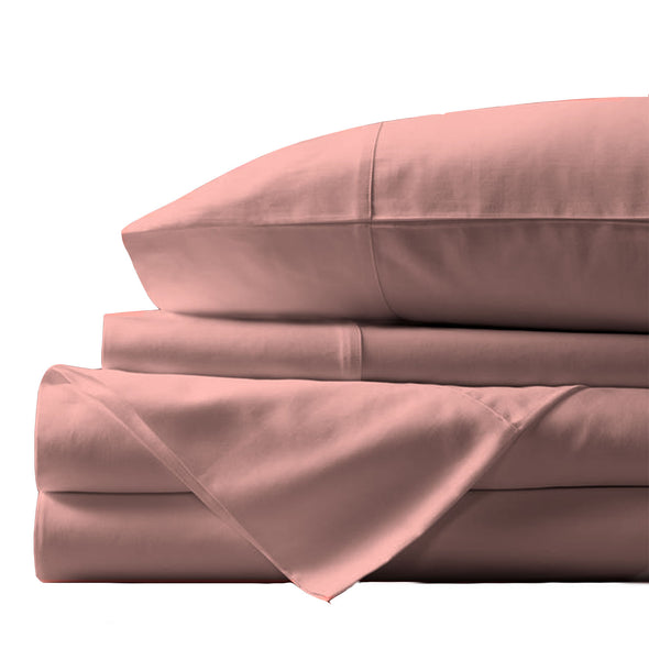 Royal Comfort - Balmain 1000TC Bamboo cotton Sheet Sets (Queen) - Blush