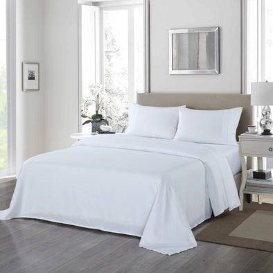 Royal Comfort 1200TC Ultrasoft 4 Piece Sheet Set - Queen - White
