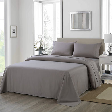 Royal Comfort 1200TC Ultrasoft 4 Piece Sheet Set - King - Charcoal