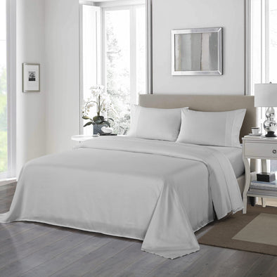 Royal Comfort 1200TC Ultrasoft 4 Piece Sheet Set - King - Silver