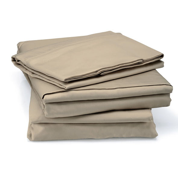 Royal Comfort 1000 TC Cotton Blend sheet sets Queen - Pebble