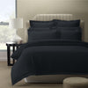 Royal Comfort 1200 Thread count Damask Stripe Cotton Blend Quilt Cover Sets Queen Charcoal Grey