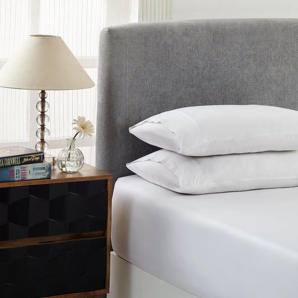Royal Comfort 1500 TC Cotton Rich Fitted sheet 3 PC Set King-White