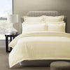 Royal Comfort 1200 Thread count Damask Stripe Cotton Blend Quilt Cover Sets King Pebble