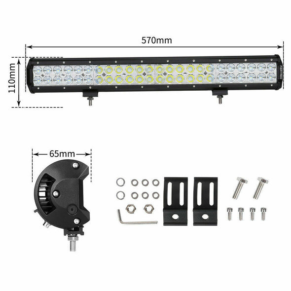 23inch 240w Cree LED Light Bar Flood Spot Combo Offroad Driving 4WD Lamp 4x4