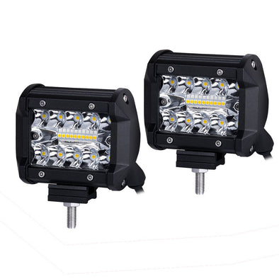 2x 4inch CREE LED Light Bar Spot Flood Combo Work Lamp Lightfox Vision Series