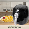 Kitchen Couture 4L Manual Air Fryer Black With Silver