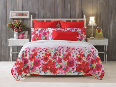 Bianca Makayla Red Double Quilt Cover