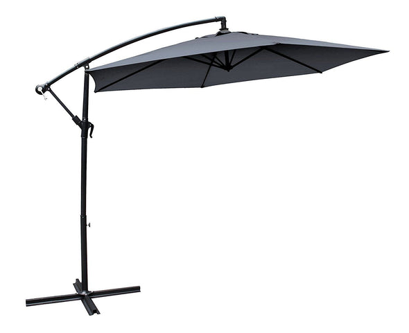 Milano Outdoor - Outdoor 3 Meter Hanging and Folding Umbrella - Charcoal