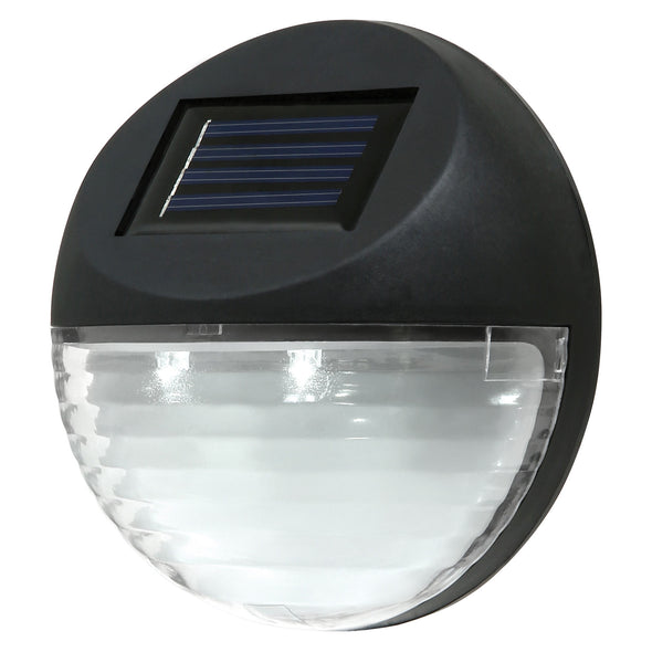 Utmark Solar LED Fence Light (Round) Colour :Black