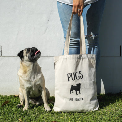 Reusable Pug Tote/Shopping Bags