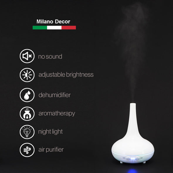 Milano Decor Ultrasonic Aroma Diffuser - White color: