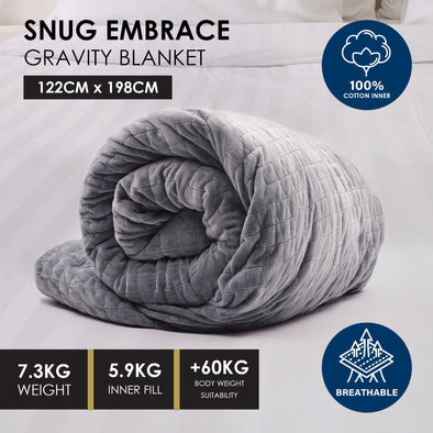 Royal Comfort Snug Embrace Weighted Gravity Blanket - Queen