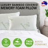 Royal Comfort Bamboo Covered Memory Foam Pillow - 2Pk