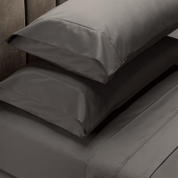 Renee Taylor 1500 Thread Count Cotton Blend Sheet Sets Queen Dusk Grey