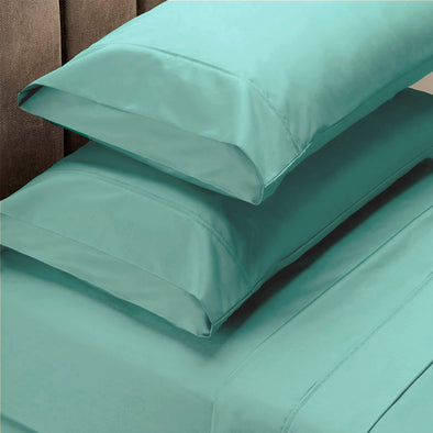 Renee Taylor 1500 Thread Count Cotton Blend Sheet Set - Queen - Mist