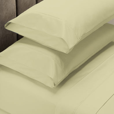 Renee Taylor 1500 Thread Count Cotton Blend Sheet Set - Queen - Stone