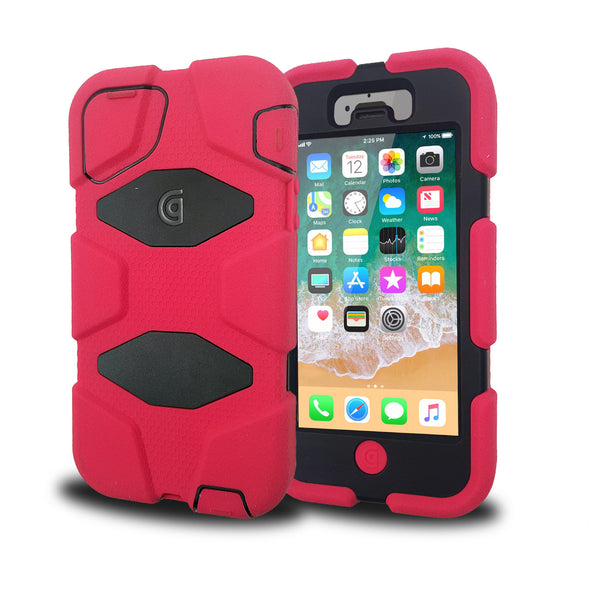Griffin duty case iPhone 5 - Screen guard built-in - Black/Pink