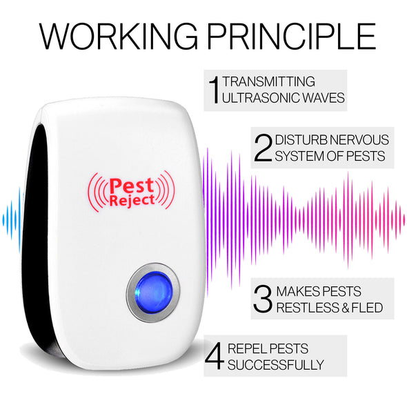 Ultrasonic Pest Repeller - Black and White