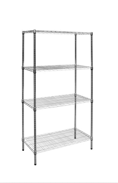Modular Chrome Wire Storage Shelf 900 x 450 x 1800 Steel Shelving
