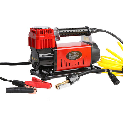 Giantz 12V Portable Air Compressor - Red