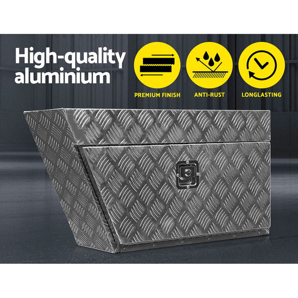 Giantz Pair of Under Tray Undertray Tool Box Aluminium Alloy Underbody Toolbox