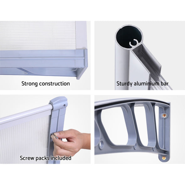 Instahut Window Door Awning Door Canopy Outdoor Patio Sun Shield 1.5mx2m DIY